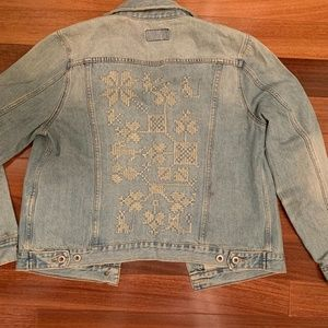 Embroidered denim jacket. Never worn